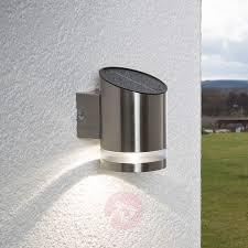 Led Lamp Salma Op Zonne Energie Muurbevestiging Lampen24nl