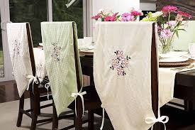 Dining Chair Slipcovers with a Removable Cover Chair Design