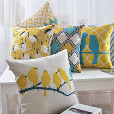 Small Picture Aliexpresscom Buy Bright Yellow Bird Pillow Decorative sofa