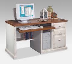 Kathy Ireland Southampton White Desktop Computer Desk with Storage