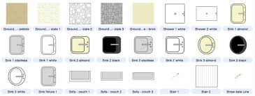 Architecture Buildings and Floor Plan Symbols Included with
