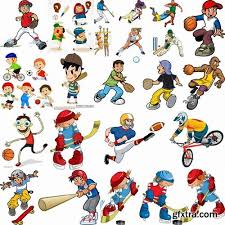 sports crowd clipart. funny cartoon sports men in vector 25 eps » vector, photoshop psd crowd clipart