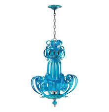 florence light blue aqua murano glass 4 light pendant chandelier kathy kuo home