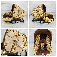 sunflowers baby car seat cover with