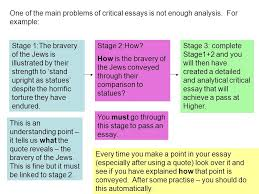 higher critical essays advice ppt video online  one of the main problems of critical essays is not enough analysis