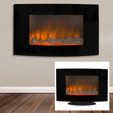 best choice s large 1500w heat adjule electric wall mount free standing fireplace heater with glass xl com