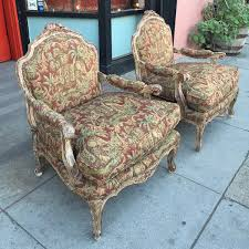 custom club chairs. Pair Of Custom Made French Style Club Chairs