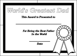 Small Picture Printable Certificates for Dads Printable certificates Dads and