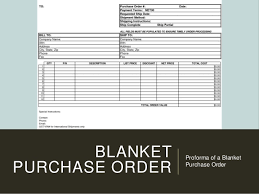 Blanket Purchase Agreement Awesome Types Of Purchasing System