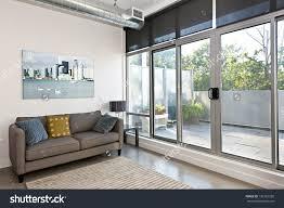 living room sliding glass door balcony stock photo 2017 with external doors images
