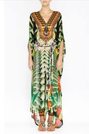 Camilla Franks The Ringleader Embellished Kaftan Racer Maxi Dress Nwt