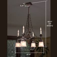 summit eight light chain link chandelier with 2 1 4 in shade
