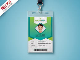 Company Id Card Template Free Psd Multipurpose Photo Identity Card Template Psd By