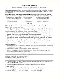 Military Resume Examples Sample Resume For A Military To Civilian