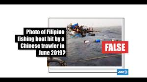 No This Is Not A Photo Of A Philippine Fishing Boat Hit By A