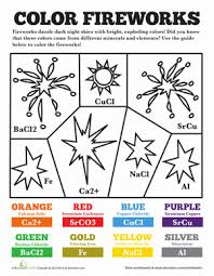 chemistry of fireworks worksheet com fifth grade holidays seasons worksheets chemistry of fireworks