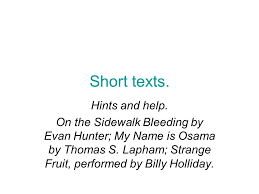 short texts hints and help on the sidewalk bleeding by evan 1 short texts hints and help on the sidewalk bleeding