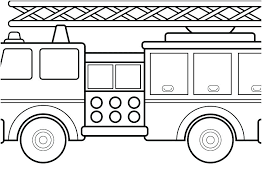 Fire Truck Coloring Pages To Print Fire Truck Color Page Fire Truck