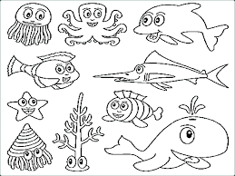 Ocean Animals Coloring Pages For Preschool Animal Coloring Page