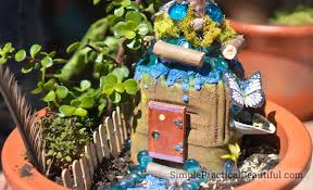 create a fairy garden in a flower pot
