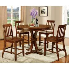 furniture of america fort wooden counter height round dining table hayneedle