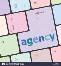 Word With Ad Advertising Concept Computer Keyboard With Word Ad Agency Vector