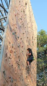 file rock climbing practice on artificial rock wall at indian mountaineering foundation delhi