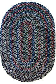 navy rug textured braided farmhouse area rugs by large oval wool rugs
