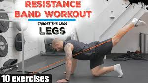 resistance band workout 10 exercises to target the legs
