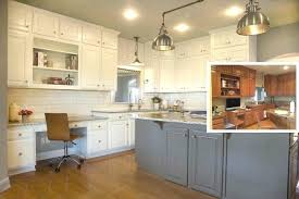 painted brown kitchen cabinets before and after. Black And Brown Kitchen Cabinets Before After Painted T