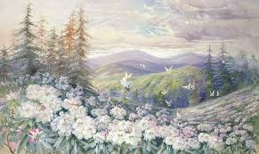 spring painting spring landscape by marian ellis rowan