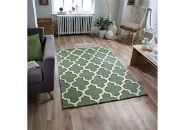 sage green rugs back