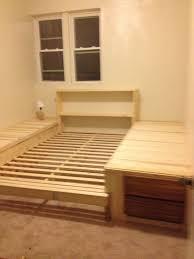 sunken bed frame. Unique Sunken Sunken Platform Bed Diy Pallet Bed Bed Frames Frame For Frame Pinterest
