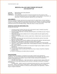 Medical Billing Resumes Samples Certified Coder Job Description