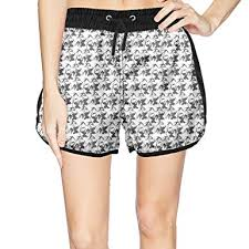 Womens Patterned Shorts Delectable Eoyles Panda Summer Beachwear Quick Dry Beach Shorts For Women