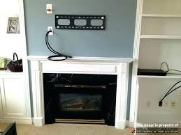 mounting a tv over fireplace on mantel designs how to mount above studs