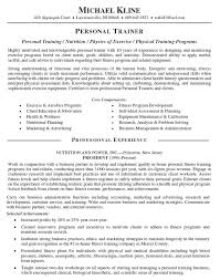 athletic resume template personal trainer resume trainer resume sample  within athletic