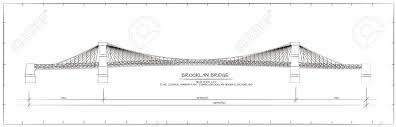 architectural drawings of bridges. Delighful Bridges Architectural Technical Drawing Brooklyn Bridge New York Stock Vector   53103258 In Drawings Of Bridges R