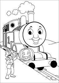 Thomas And Friends Coloring Pages Halloween Coloringstar