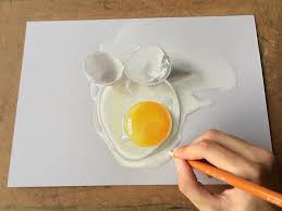 hyperrealistic 3d drawings by sushant rane egg shell 3