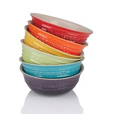 le creuset cereal bowl. Fine Cereal Stoneware Rainbow Cereal Bowl Set Of Six For Le Creuset A