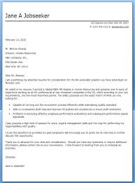 Hr Generalist Cover Letter Example Hr Generalist Cover Letter Human