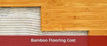 bamboo flooring cost 2021 material