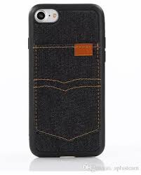 denim leather case of cowboy style back case for iphone 7 6 plus with card slot flip covers cell phone tpu shell blue for iphone 5 designer phone cases best