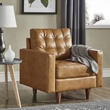 Odin Caramel Leather Gel Accent Chair by iNSPIRE Q Modern - Free Shipping  Today - Overstock.com - 25633749