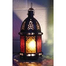 moroccan candle lantern cl13 multi