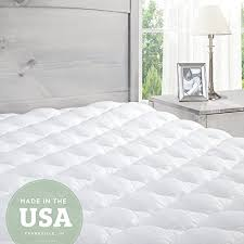 soft mattress. extra plush mattress pad topper with fitted skirt found in luxury hotels made the usa queen soft