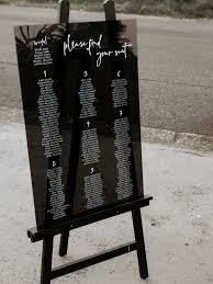Acrylic Wedding Seating Chart Seating Chart Seating