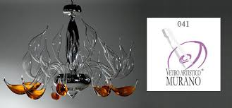 modern chandeliers design in authentic murano art glass