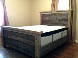 Reclaimed Wood King Bed King Bed Frame Wooden Wooden Bed Frames ...